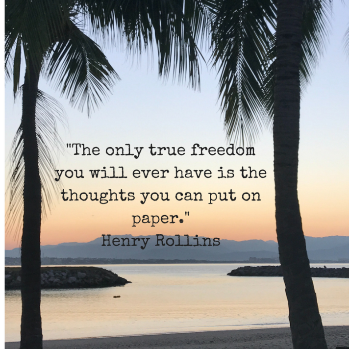 The only true freedom you will ever have is the thoughts you can put on paper. Henry Rollins