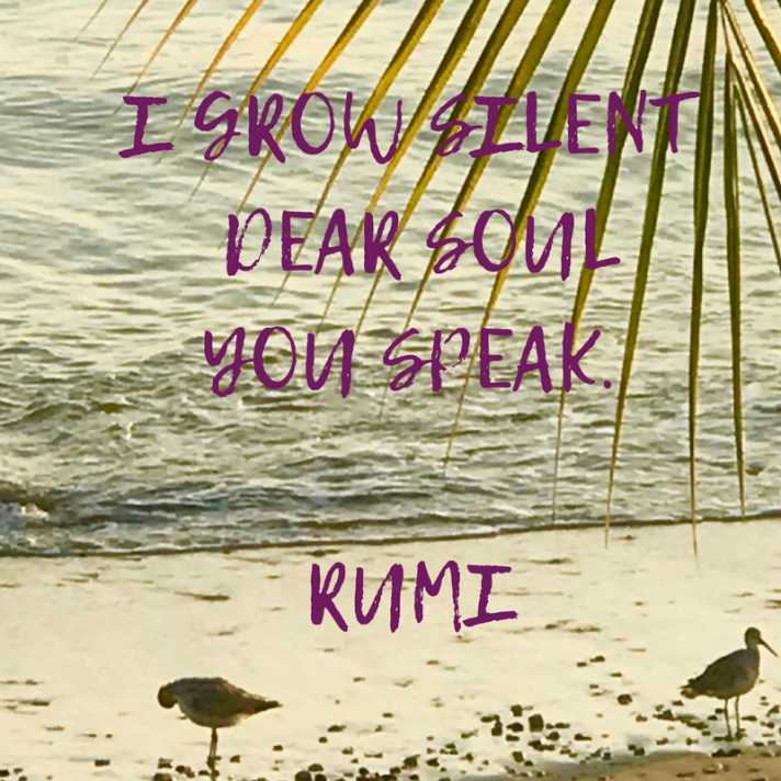 I GROW SILENT DEAR SOULYOU SPEAK.RUMI
